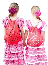Flamenco hair flower pink