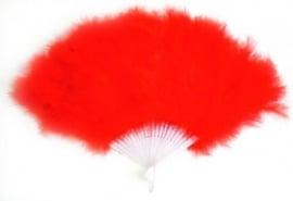 Spaanse waaier met veren, rood