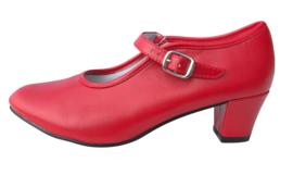 Spaanse schoenen rood dames