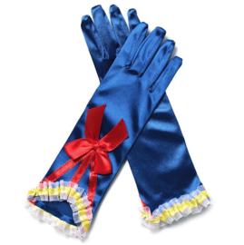 Sneeuwwitje handschoenen blauw rode strik