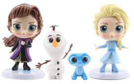 Frozen 2 set popjes Elsa, Anna, Olaf en Bruni