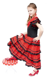 Flamenco Dress black red