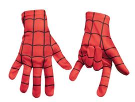 Spider handschoenen rood spinnenheld