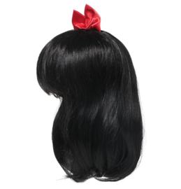 Sneeuwwitje pruik zwart meisje