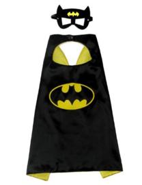 Superhelden cape vleermuisheld + GRATIS tas/sleutelhanger