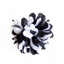 Flamenco hair flower black white