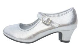 Spaanse schoenen zilver glossy