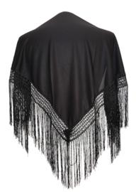 Spaanse manton/omslagdoek zwart SMALL