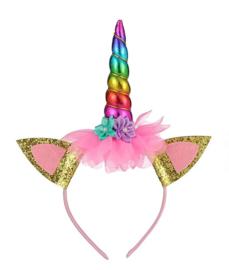Eenhoorn Unicorn haarband regenboog