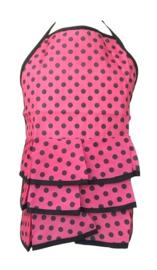 Flamenco schort roze/zwart kinderen, klein model