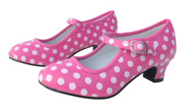 Spaanse schoenen roze wit