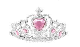 Prinsessen kroon licht roze