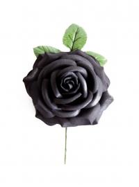 Spaanse flamenco roos, zwart