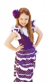 Flamenco Dress purple white