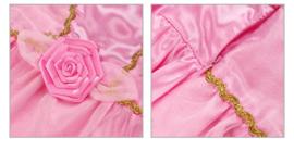 Prinsessenjurk licht roze goud + GRATIS haarband