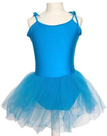 Balletpakje tutu met striklinten fel blauw