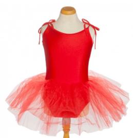 Balletpakje tutu met striklinten rood