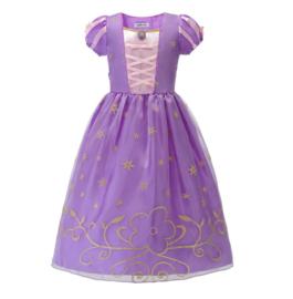 Prinsessenkleedje paars goud + broche en GRATIS haarband