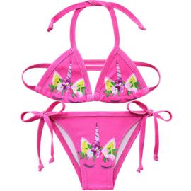 Eenhoorn bikini Unicorn fel roze + GRATIS ketting