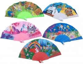 Spaanse kinder waaiers diverse kleuren