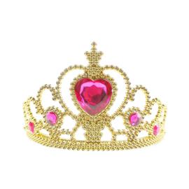 Prinsessen kroon goud roze