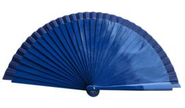 Spaanse flamenco waaier donker blauw (hout)