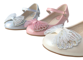 Spaanse schoenen vlinder crème wit Glamour