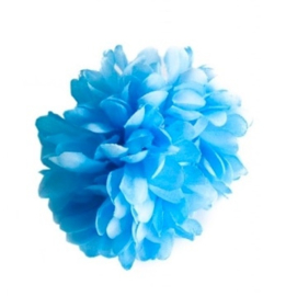 Flamenco hair flower blue