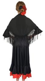 Spaanse Mantoncillo de Flamenco zwart