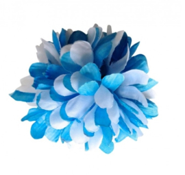 Flamenco hair flower blue white