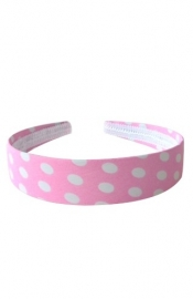 Flamenco headband pink white