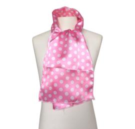 Spaans flamenco sjaaltje roze met witte stippen