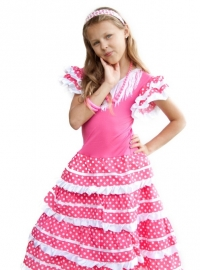 Flamenco Dress pink white