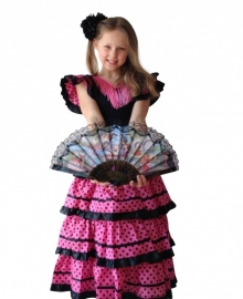 Flamenco Dress black pink