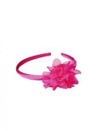 Spaanse haarband fel roze bloem