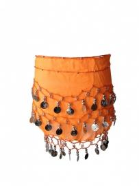 Spaanse dansdoek met muntjes, oranje