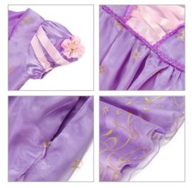 Prinsessenjurk paars goud + broche en GRATIS haarband