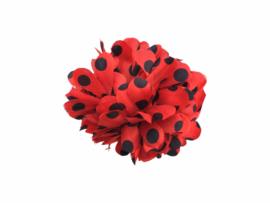Haarbloem rood zwarte stippen klein model