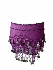 Spaanse dansdoek met muntjes, paars