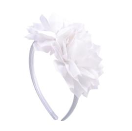 Prinsessen haarband met witte bloemen