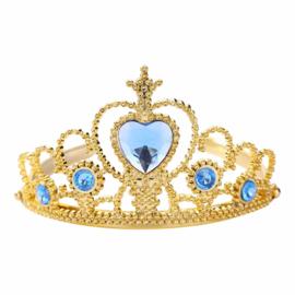 Prinsessen kroon goud blauw