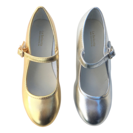 Spaanse schoenen zilver