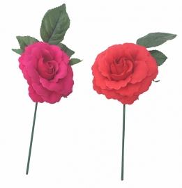 Spaanse flamenco roos klein, rood of roze