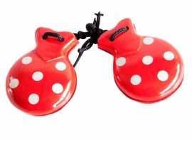 Spanish castanets red white dots