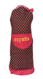 Spaanse flamenco schort España zwart rood
