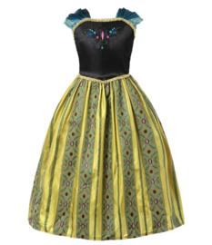 Anna Frozen jurk Classic + GRATIS roze kroon