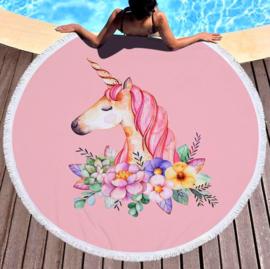Eenhoorn Unicorn Strandlaken badlaken roze