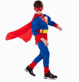 Superman pak verkleedpak Luxe + GRATIS tas/sleutelhanger