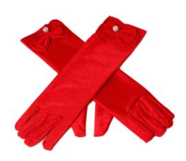 Handschoenen prinsessen rood voor kinderen