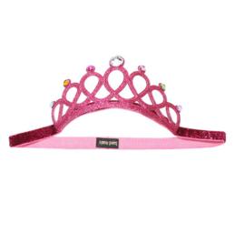 Prinsessen kroon roze met parel